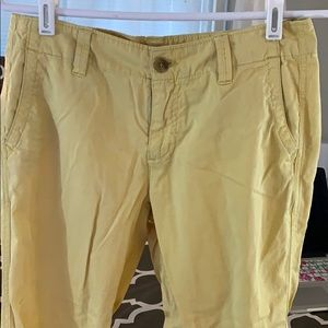 Yellow trousers.